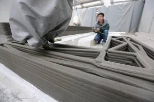 empresa de construccion y reformas impresora 3d trabajando